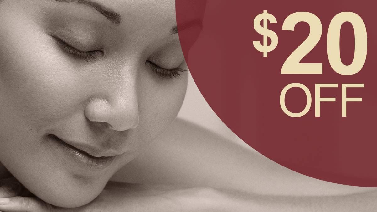 20 off 1 hour massage