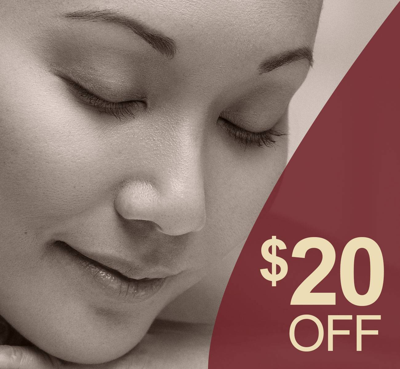 20 off 1 hour massage