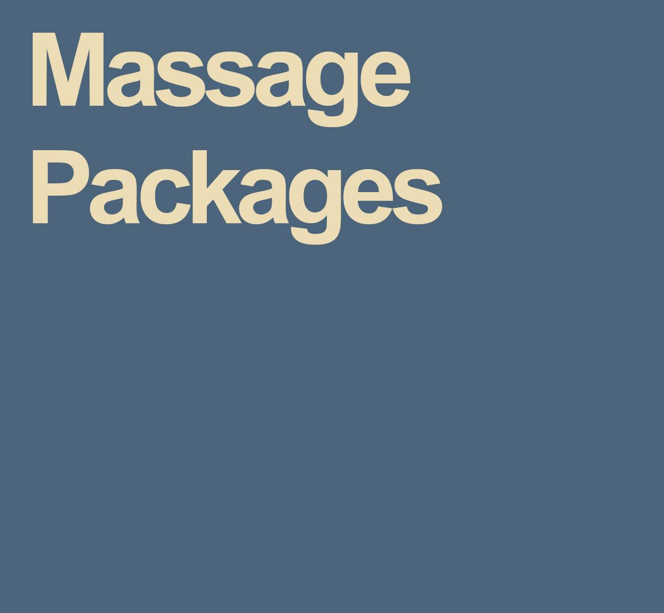 Save with Our Massage Packages