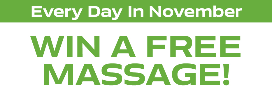 Win a massage a day in November!