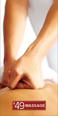 $49 Massage Offer links to specials