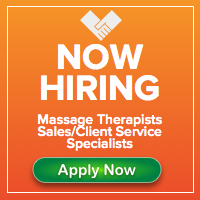 Now Hiring Massage Therapists and Sales Client Service Specialists