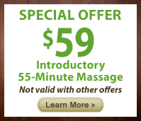 Special $59 55-min offer with disclaimer button
