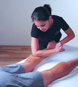 Massage therapy relieving muscle injuries