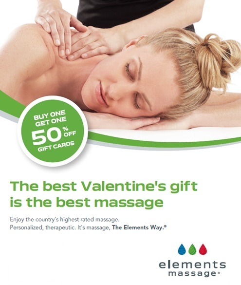 Elements massage studio gift cards servicing northport east give the gift of massage this valentines day negle Images