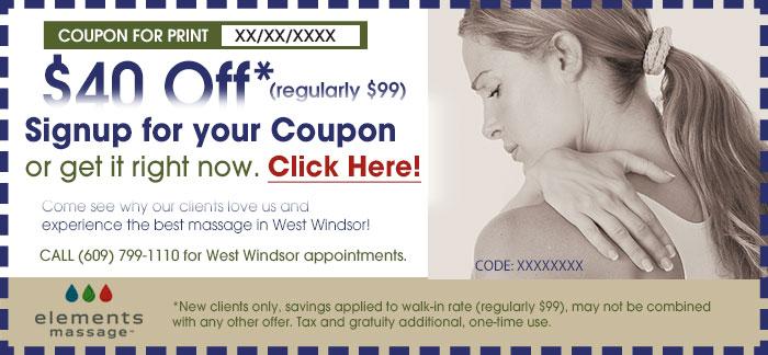 Elements Massage West Windsor Massage Coupon