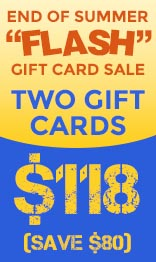 """End of Summer """"Flash"""" Gift Card Sale!"""