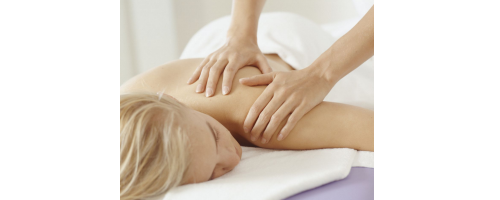 image of woman getting massage