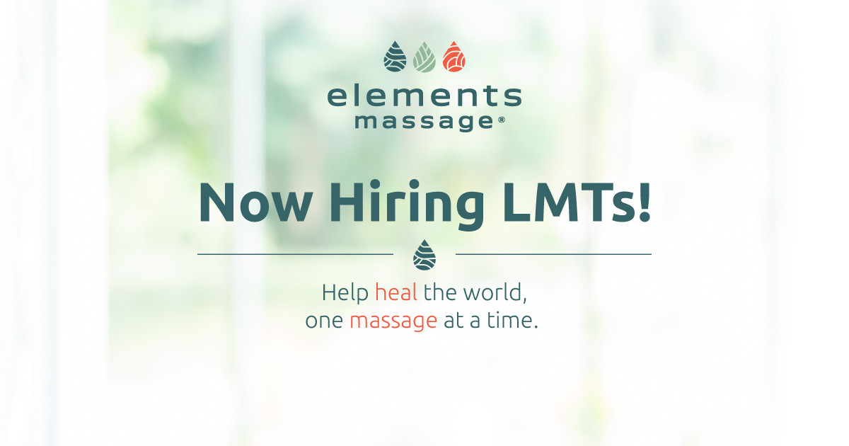 Now Hiring LMTs - help heal the world one massage at a time