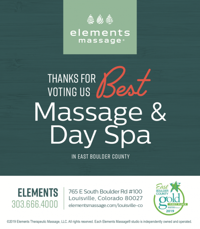 Voted Best Massage and Best Day Spa in East Boulder County