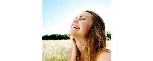 image of happy energetic woman
