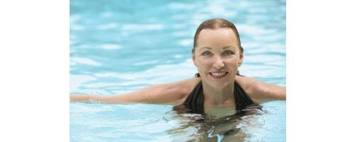 image of woman in swimming pool