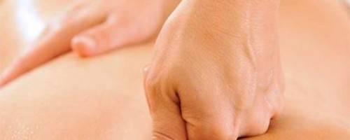 photo of massage on back