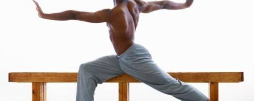 photo of man stretching with large range of motion