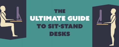Drawing of Someone Sitting at Desk and Then Standing at the Same Desk