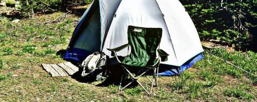 photo of a tent