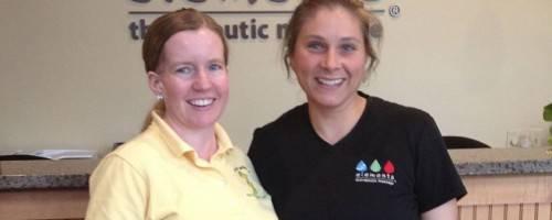 Elements Massage Therapist & Client