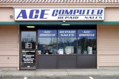 ACE Computer Repair storefront Logo