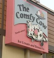 The Comfy Cow Ice Cream Logo