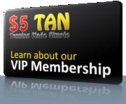 5 Dollar Tan VIP card Logo