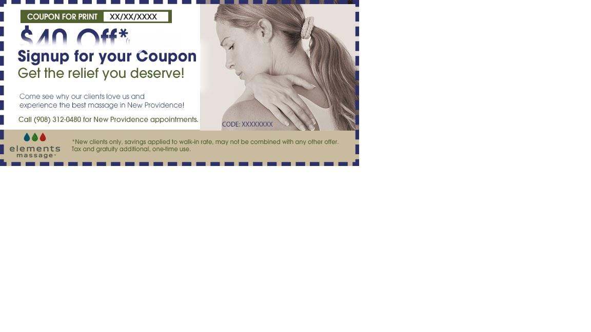Elements massage discount coupons