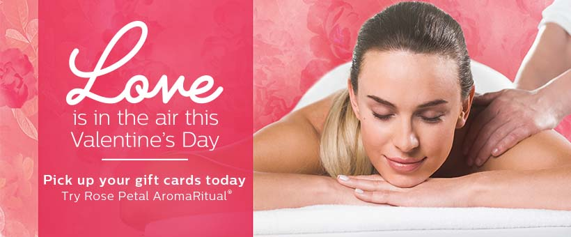 Valentine's Day gift cards massage