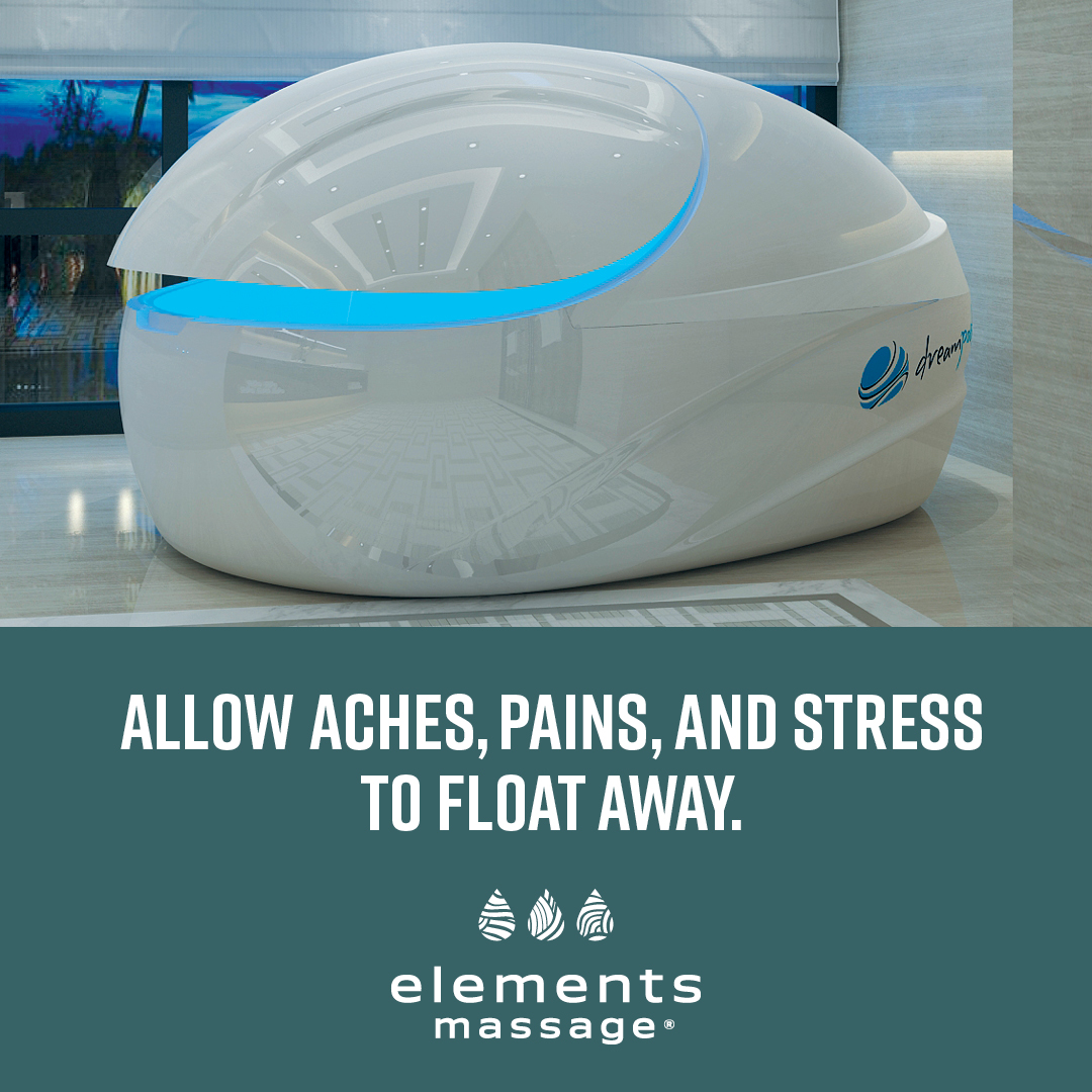 float pod that allows aches, pains and stress to float away