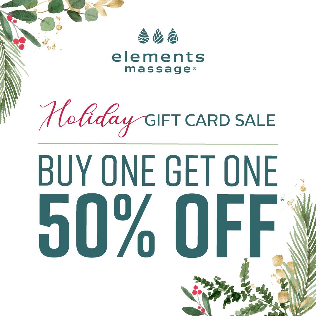 holiday gift card sale - BOGO 50% off