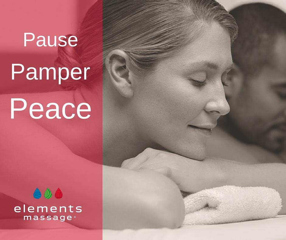 Pause. Pamper. Peace massage image