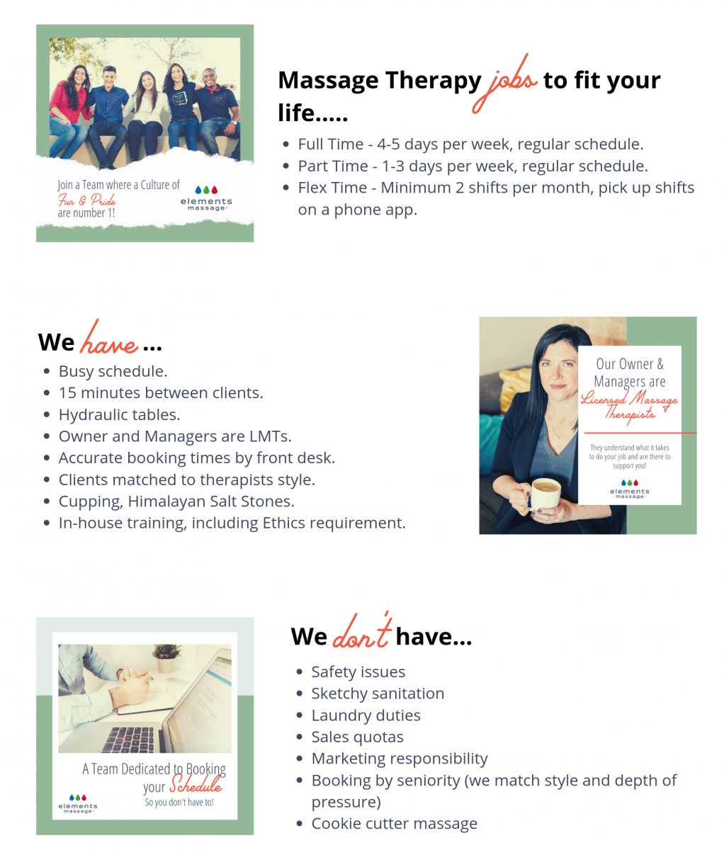 now hiring massage therapists at elements massage u2122 in
