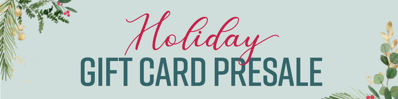 holiday gift card pre-sale