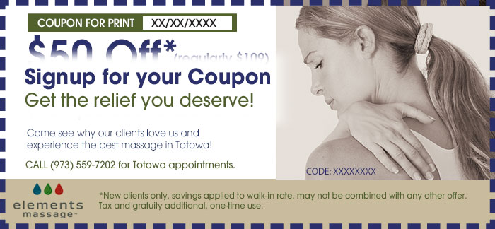 totowa massage coupon