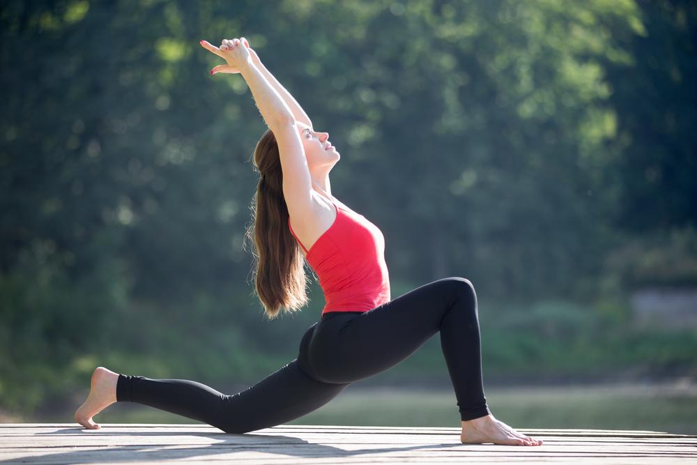 Hip flexor stretch for self care