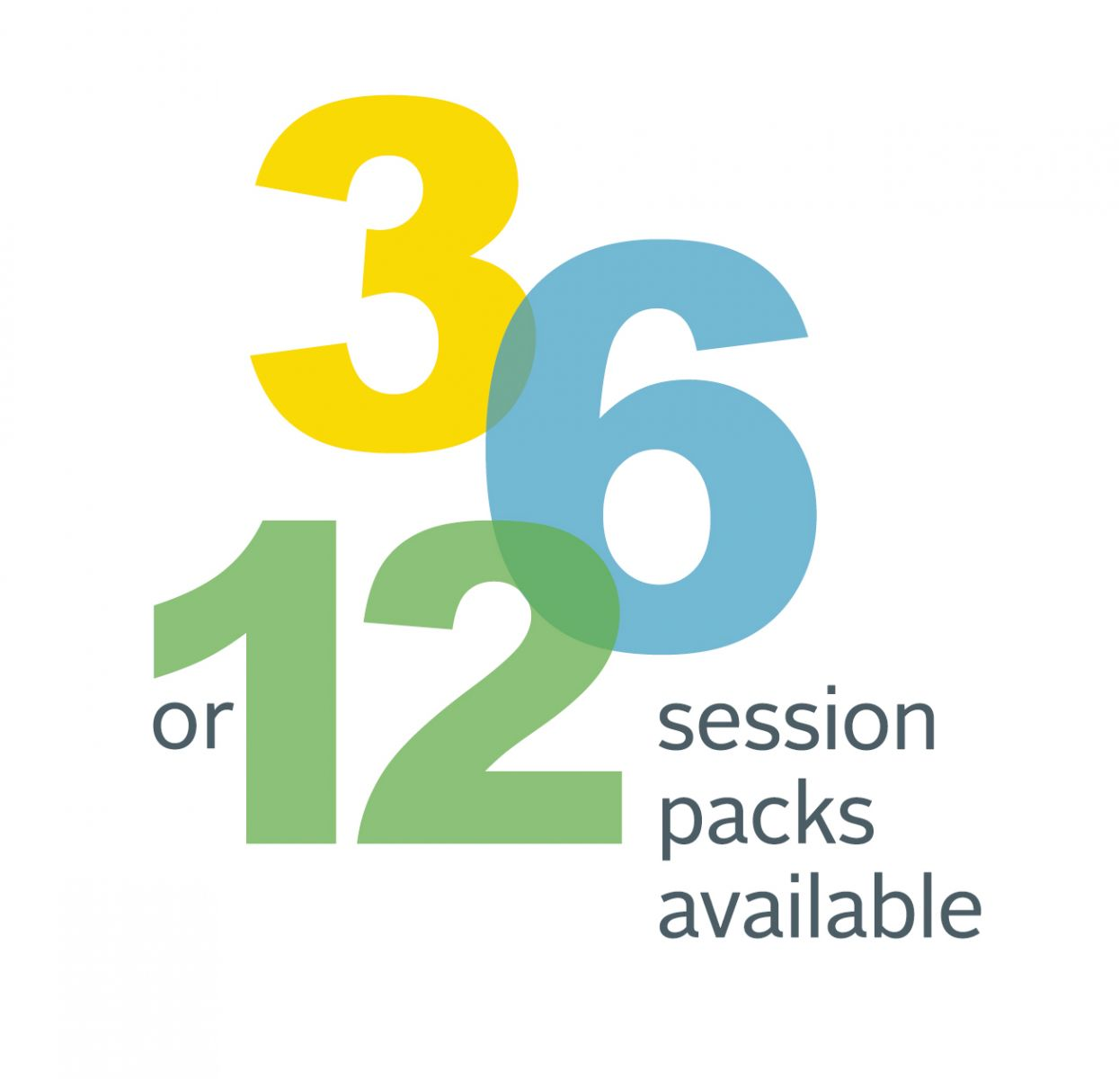 3, 6, or 12 session packs available